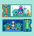 Zoo Tickets Set vector image vector image
