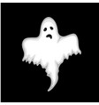 ghost on a black background in the style of the vector image