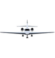 Private jet vector image