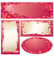 Set of Valentines Day banners vector image