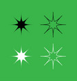 star icon black and white color set vector image
