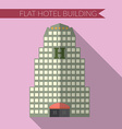 Flat design modern of hotel building icon with vector image