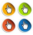 pixel cursor hand stickers vector image