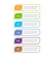 colorful ui design concept element six steps vector image