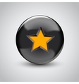 3d black sphere with star symbol vector image