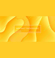 abstract background wave motion flow yellow vector image vector image