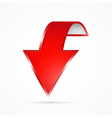 Abstract Red 3d Arrow Icon vector image vector image
