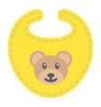 baby bib flat icon kid and clothes vector image vector image