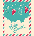 bashower invite greeting card vector image vector image