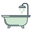 bathtub and shower hotel room bathroom isolated vector image