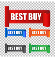 best buy sticker label on isolated background vector image vector image