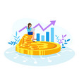 bitcoin financial vector image vector image