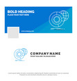 blue business logo template for data big data vector image