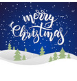 blue merry christmas card vector image vector image