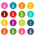 bottle forms icons many colors set vector image vector image