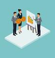 business isometric people vector image