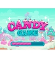 Candy game title loading screen vector image vector image