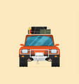car front view off-road vehicle isolated on color vector image vector image