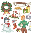 christmas decoration and presents vector image