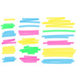 color highlight marker lines colorful markers vector image vector image