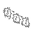 countdown icon doodle hand drawn or outline icon vector image vector image