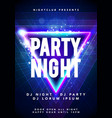 dance party poster background template with glow vector image vector image