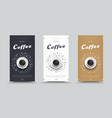 design packaging for coffee with drawings by hand vector image