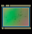 dirt and dust on digital camera sensor close-up vector image vector image