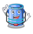 finger bucket cylinder water in shape character vector image