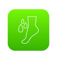 foot care icon green vector image vector image