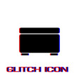 foot stool icon flat vector image vector image