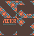 geometric tiles decoration background vector image