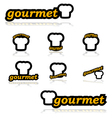 Gourmet icons vector image vector image