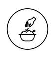 handwash symbol icon editable thin line vector image vector image