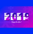 happy new year 2019 scoreboard vector image