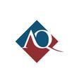 initial aq rhombus logo design vector image vector image