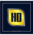 initial letter hd logo template design vector image