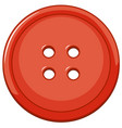 isolated red button on white background vector image