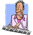 jazz pianist cartoon vector image vector image