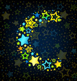 Letter C cartoon star colored vector image vector image