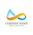 logo design infinity company logo vector image vector image