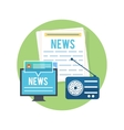 Mass media concept news radio newspaper vector image