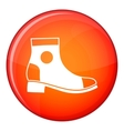 Men boot icon flat style vector image vector image