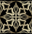 ornate ethnic style golden seamless pattern vector image