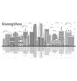 outline guangzhou china city skyline with modern vector image vector image
