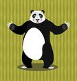 Panda Chinese Bear Good animal Jolly animal and vector image vector image