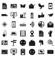 postal code icons set simple style vector image vector image