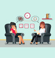 psychologist consultation patient character flat vector image
