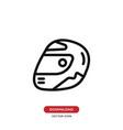 racing helmet icon motorcycle helmet symbol vector image vector image
