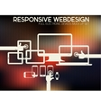 Responsive design kit of electronic gadgets vector image vector image